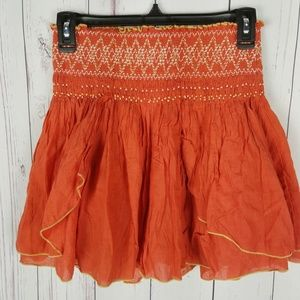 Free People Boho Skirt Size XS Extra Small Elastic